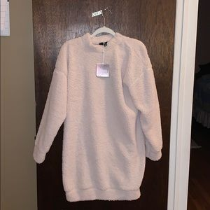 NWT Sherpa/Teddy sweater dress